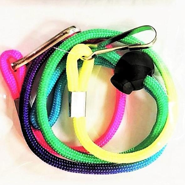 Kid Rainbow Adjustable Cord Mask Holder Necklaces w/ Easy Clip .50  ea