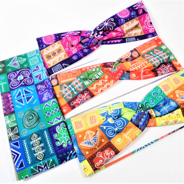 "3"" Wide Mixed Fashion Print  Stretch Headbands (1271) 12 per pk .58 ea"