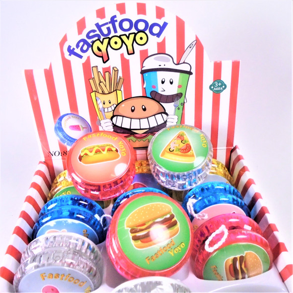 Fast Food Theme Light Up YoYo 12 per display bx .56 each