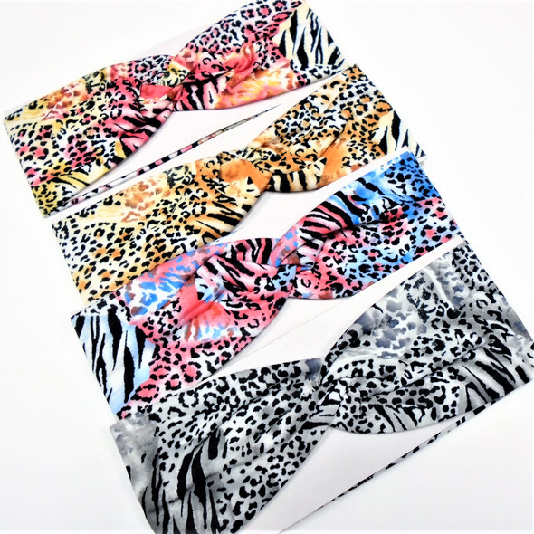 "3"" Wide Stretch Headbands New Animal Print Patterns 12 per pk .58 ea"