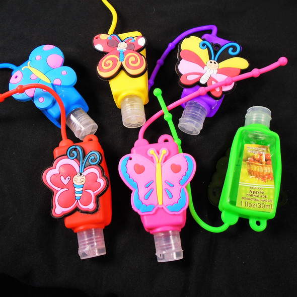 Fruit Scented  Pocket Size Hand Sanitizer Butterfly Theme  12 per pk .56  ea