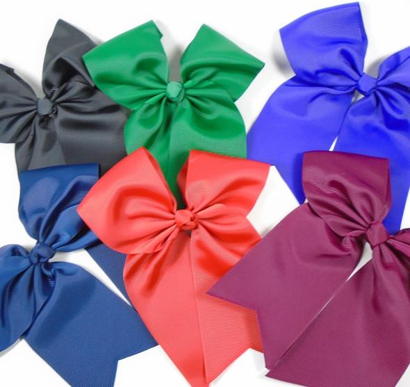 """6"""" X 8"""" Gator CLip Cheer Bows Fall Colors .54 each"""