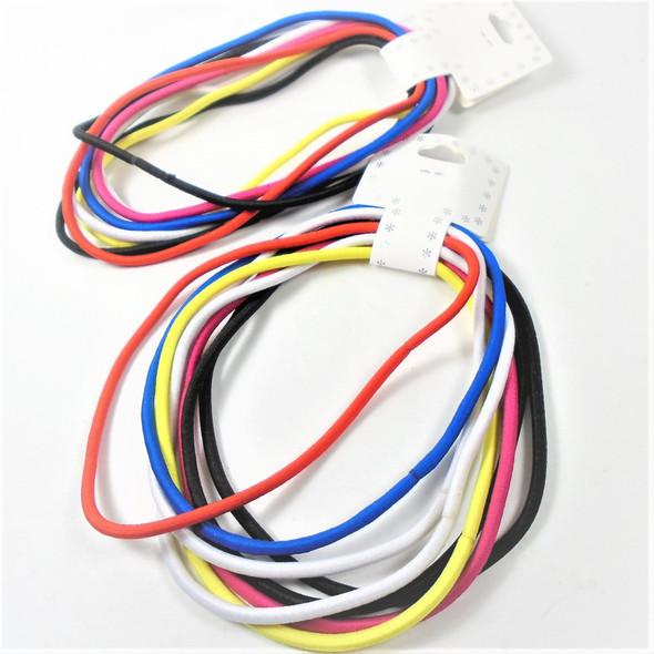 8 Pack Stretch Elastic Headbands Mixed Colors .54 per set