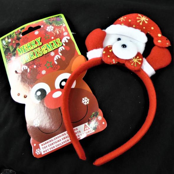 Christmas Snowman Festive Headbands 12 per pk   .56 each