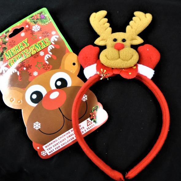 Christmas Reindeer  Festive Headbands 12 per pk   .56 each