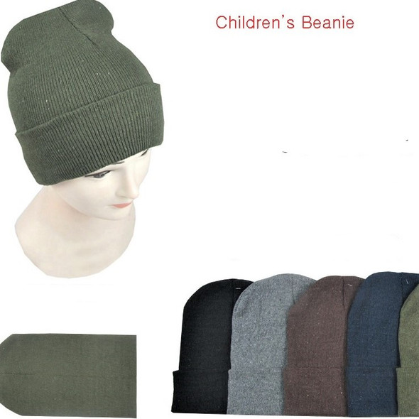 Children's Size Knit Winter Beanie Caps Mixed Winter Colors .60 each
