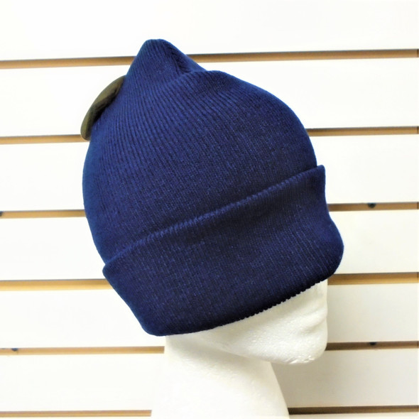 Upgraded Quality All Navy Blue  Knit Winter Hats 12 per pk $ 1.00 ea