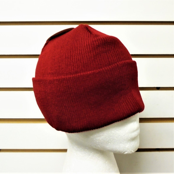 Upgraded Quality All Burgundy  Knit Winter Hats 12 per pk $ 1.00 ea