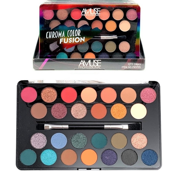 Chroma Color Fusion 26 Color Eye Shadow Palette  $ 3.50 each set