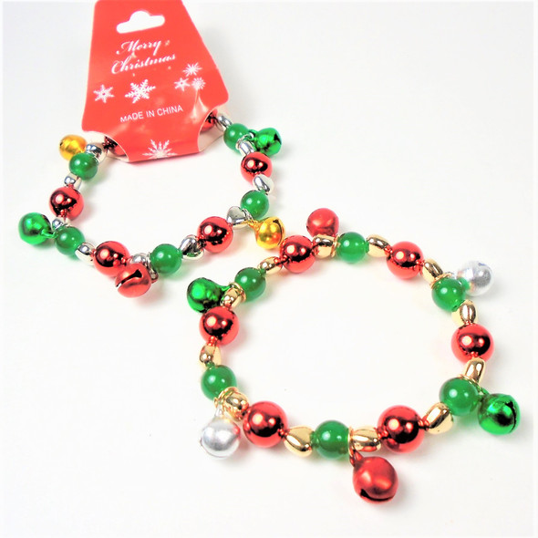 POPULAR PICK Christmas Jingle Bell Stretch Bracelet 12 per pk  .58 each