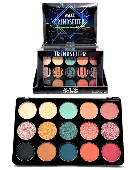 Trendsetter 15 Color Limitless Fashion Eye Shadow Kits 12 per display  $ 4.95 each