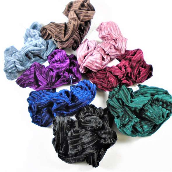 2 Pack Pleated Look  Hair Scrungi's Asst Colors .56 per set