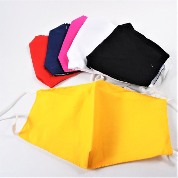 Adjustable 2 Layer w/ Filter Pocket  Protective Face Mask 6 Color Soft Fabric $ .58 each