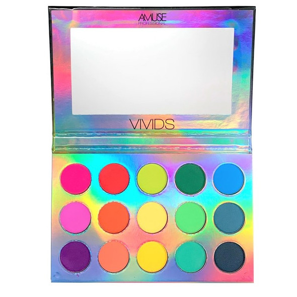 "4"" X 7"" Size Vivids 15 Hot Color Eye Shadow Palette 12 per display    $ 5.00 ea"