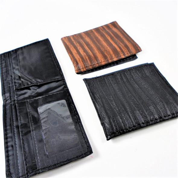 Men's Leather Look Bi Fold Wallets  2 colors   .58 each