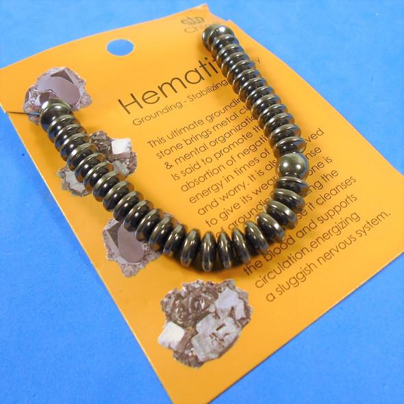 Hematite Stretch Bracelet Disc Style  12 per pk  .58 each