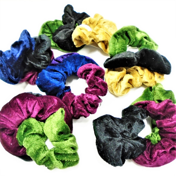 3 Pk Soft Velvet Scrungi Asst Winter Colors .56 per set