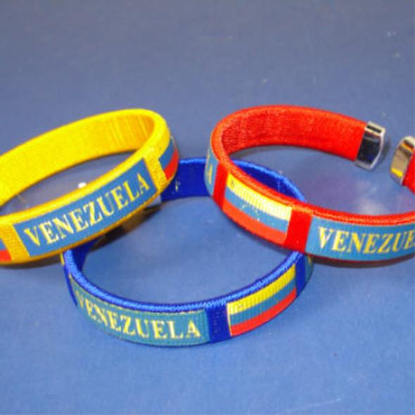 Venezuela Country Flag Cuff Bangle Bracelet .35