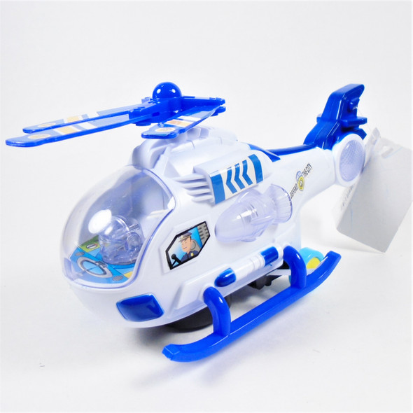"""8"""" X 4"""" Wide Light & Sound Friction Air Patrol Helicopter 8 pcs per display $ 2.40 ea"""