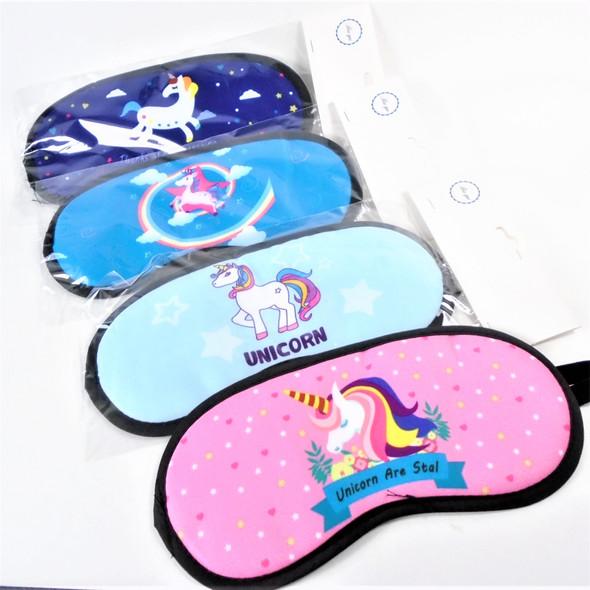 "4"" X 8"" Unicorn Theme Sleeping Mask w/ Elastic Back (183)  .60 each"