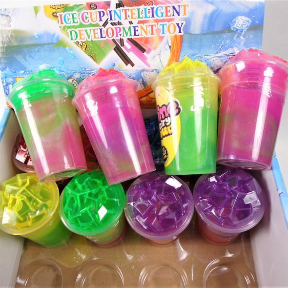 "3.5"" Soda Cup Multi Tone Slime  12 per display bx .65 each"