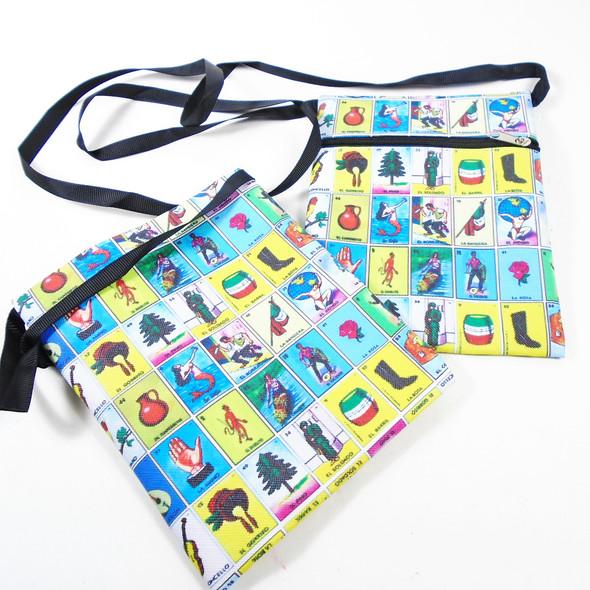 Spanish Game Theme Fashion Bag w/ Lg Strap .56 each