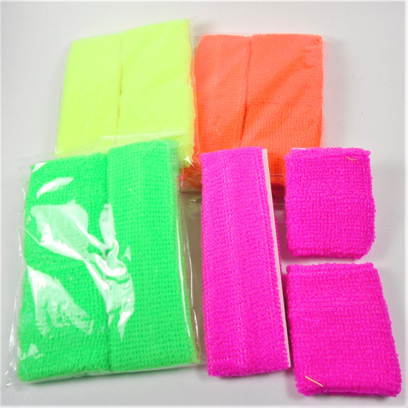 Sweatband and Wrist Band Set Neon  Colors .58 per set