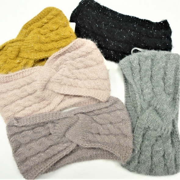 "Upgraded Quality 5"" Wide Stretch Knit Winter Headbands (1117)   $ 2.50  ea"