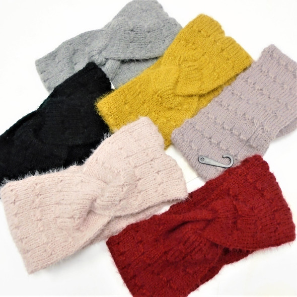 "Upgraded Quality 4"" Wide Stretch Knit Winter Headbands  (1116)   $ 2.25  ea"