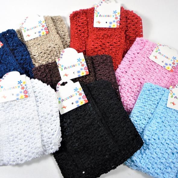 "Special 2 Pack 5.5"" & 3"" Stretch Crochet Headwraps  .56 per set"
