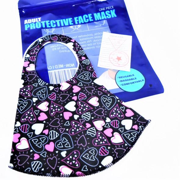 Heart Theme  Print Face Masks Washable & Reusable 12 per pk  .55 each