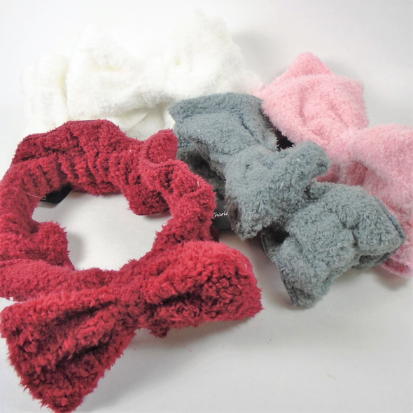 So Cute Large Size Teri Cloth Feel SPA Stretch Headband w/ Bow  .95 each