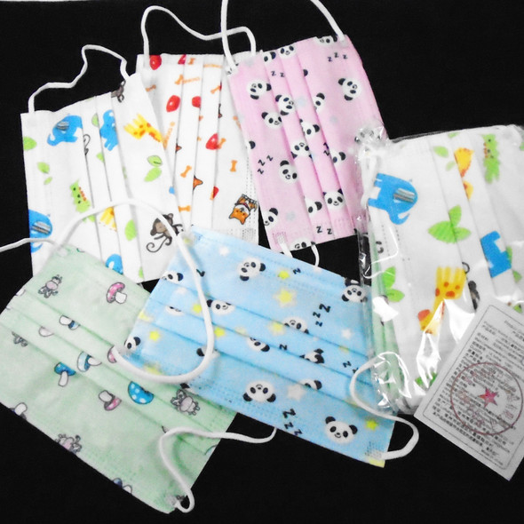 Kid Disposable Protective Masks  50 pcs per bx .09 each