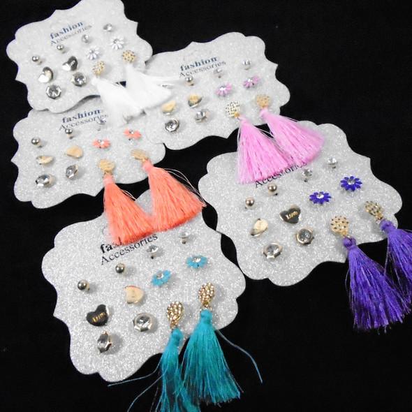 Multi Pack Fashion Earrings w/ Tassel Style (2124) .56 per set