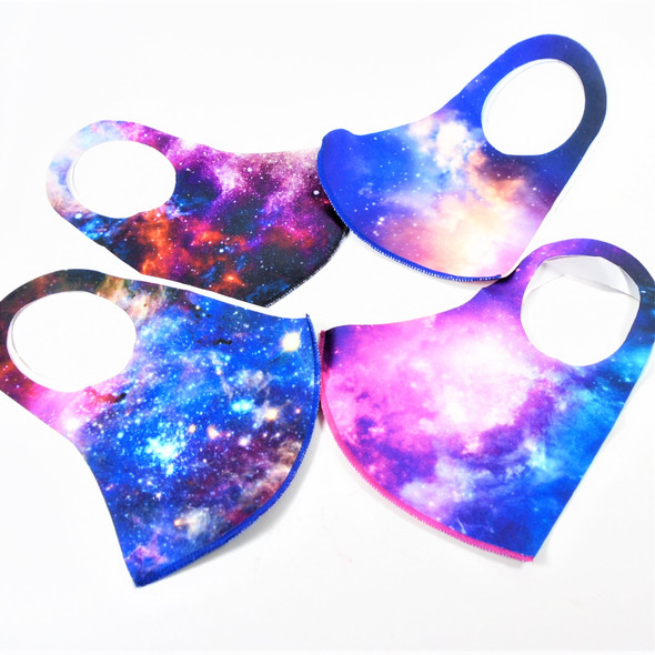 Cool Galaxy Pattern Face Masks Washable & Reusable 12 per pk  $.65 each