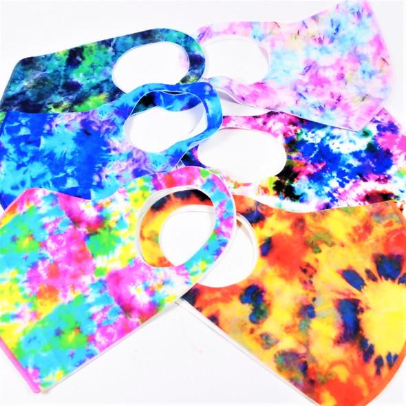 Tye Dye Pattern Face Masks Washable & Reusable 12 per pk  $.65 each