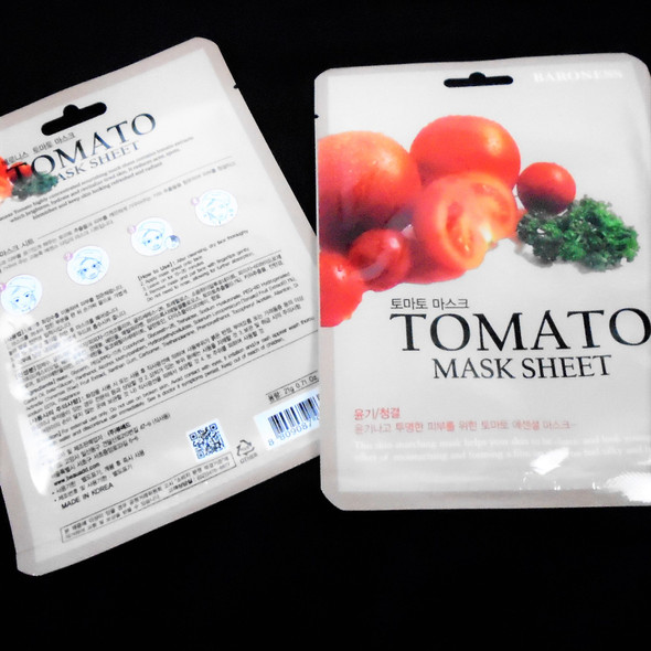 Tomato Face Mask  (Korea Made) 10 per pk Only .50 each mask