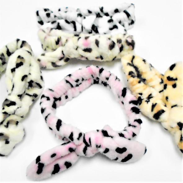 Trending  SPA Stretch Headband w/ Wire Bunny Ears Animal Prints .62 each