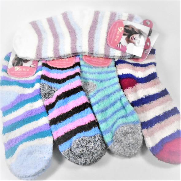 Thick ,Soft & Comfy COZY Socks Mix Color & Stripe Prints   .65 per pair
