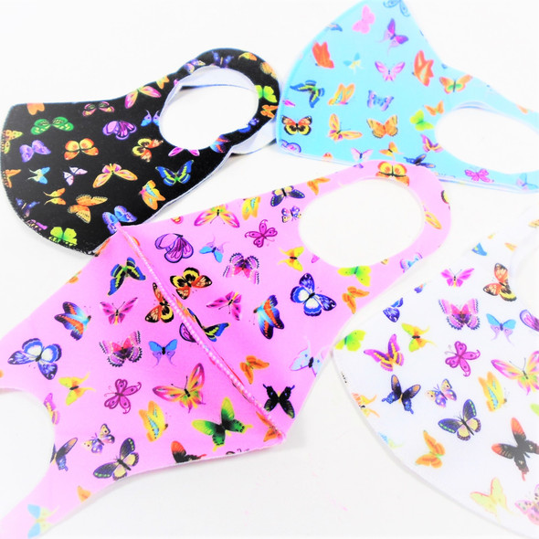 """Adult Butterfly Theme  Print Face Masks Washable & Reusable 12 per pk  .65 each"