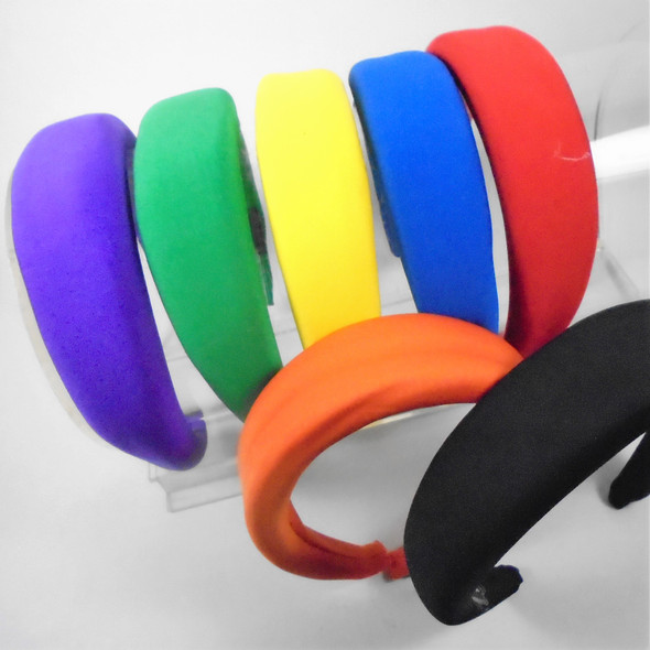 "1.5"" Wide Bulky Look Asst Color New Fashion Headbands  .56 each"