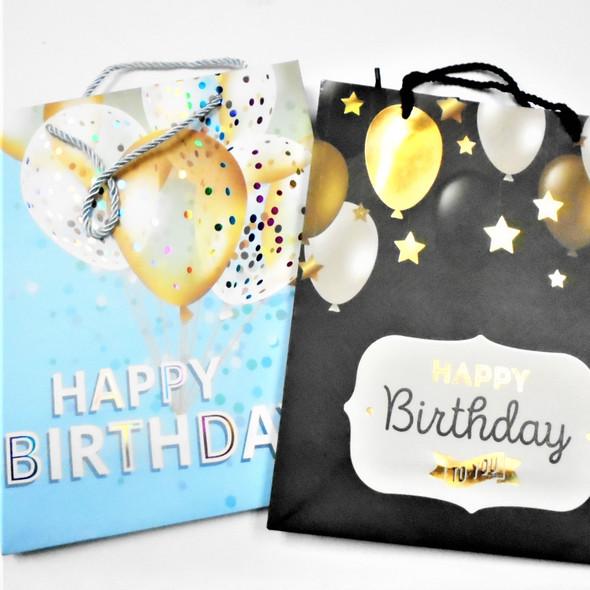 "10"" X 13"" Shiney Birthday Theme  Hi Quality Gift Bags  4 colors .56 each"