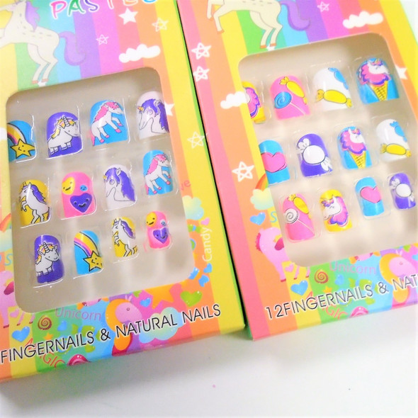 Kid's Unicorn Theme Fashion Nails (V1274)  .50 per set