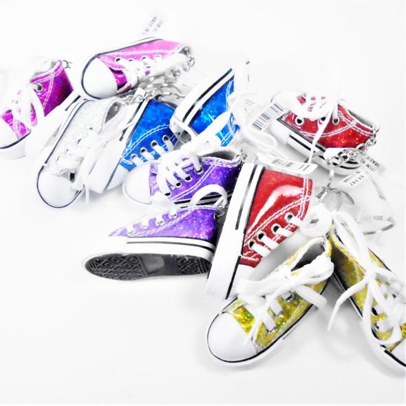 """3"""" Sneaker Keychain Metallic  Asst Colors  .62 ea"""