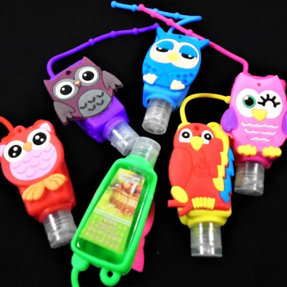Cute  Owl Theme  Scented Hand Santizers 12 per pk @ .56 ea