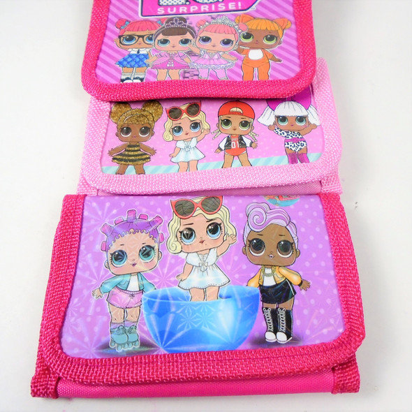 Cutie Girl Fashion Tri Fold Wallets Pinktones  Mixed Prints .65 each