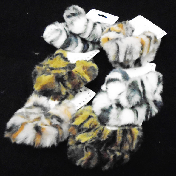 2 Pack Faux Fur Scrungi Animal Prints  .54  per set
