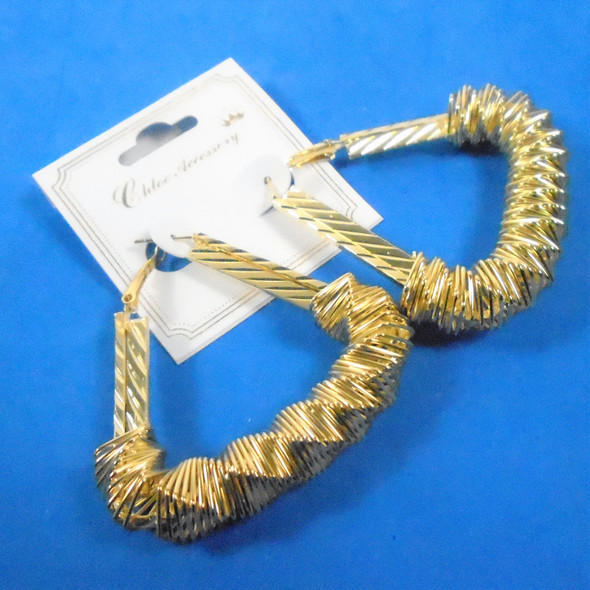 "2.5"" Cool New Style Gold Fashion Earring  .54 per pair"