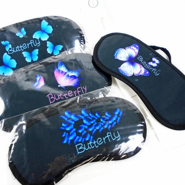 "4"" X 8"" Butterfly Theme Sleeping Mask w/ Elastic Back (336)  .60 ea"