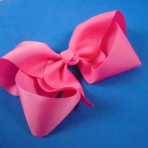"""6"""" Med Pink Color Gator Clip Bows  12 per pk"""